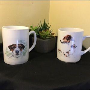 Set of 2 Russell Terrier Mugs